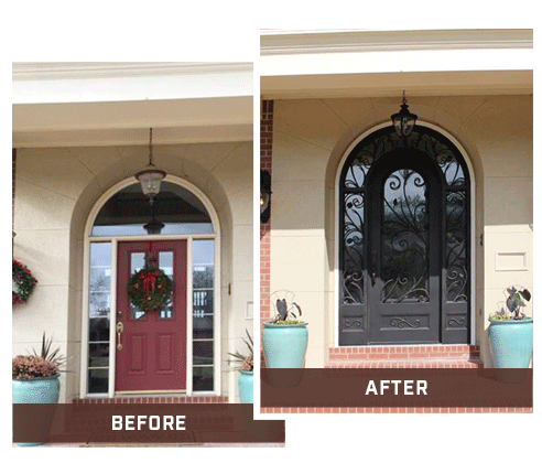 Iron Door Project Before and After Projects Wichita Kansas